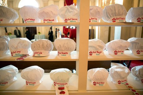 Chef hats for each of the winners at the 2016 Kids State Dinner