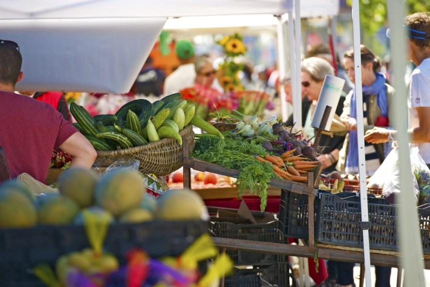 Farmers Market in San Francisco, California USA