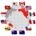 TPP (Trans-pacific partnership) and Negotiating countrie's flags
