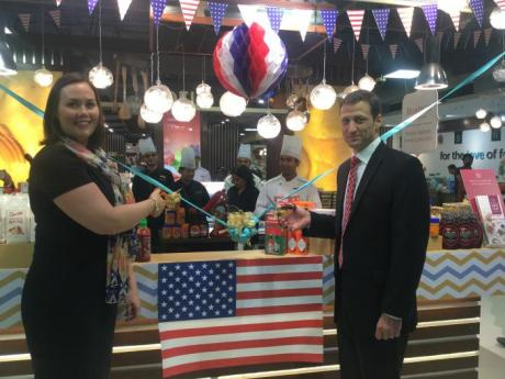 Deputy Under Secretary for Farm and Foreign Agricultural Services Alexis Taylor and Consul General Tom Vajda for the U.S. Consulate General Mumbai kickoff the Taste of America celebration at the Foodhall store in Mumbai, India.