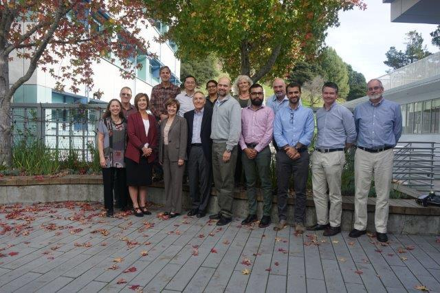 CDFA Secretary Karen Ross (lower, third from left) and Senior Advisor Bob Wynn (next to Sec. Ross) with scientists this week at Lawrence Berkeley Laboratory.