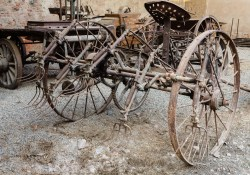 Old agricultural hay machine