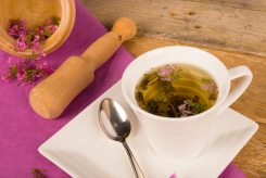 Freshly prepared valerian tea