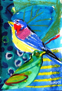 bird-collage-blue