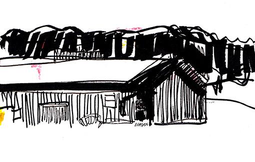 cottage-sketch-line