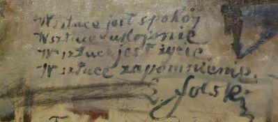 Krakow Muzeum Wyspianskiego napis na scianie