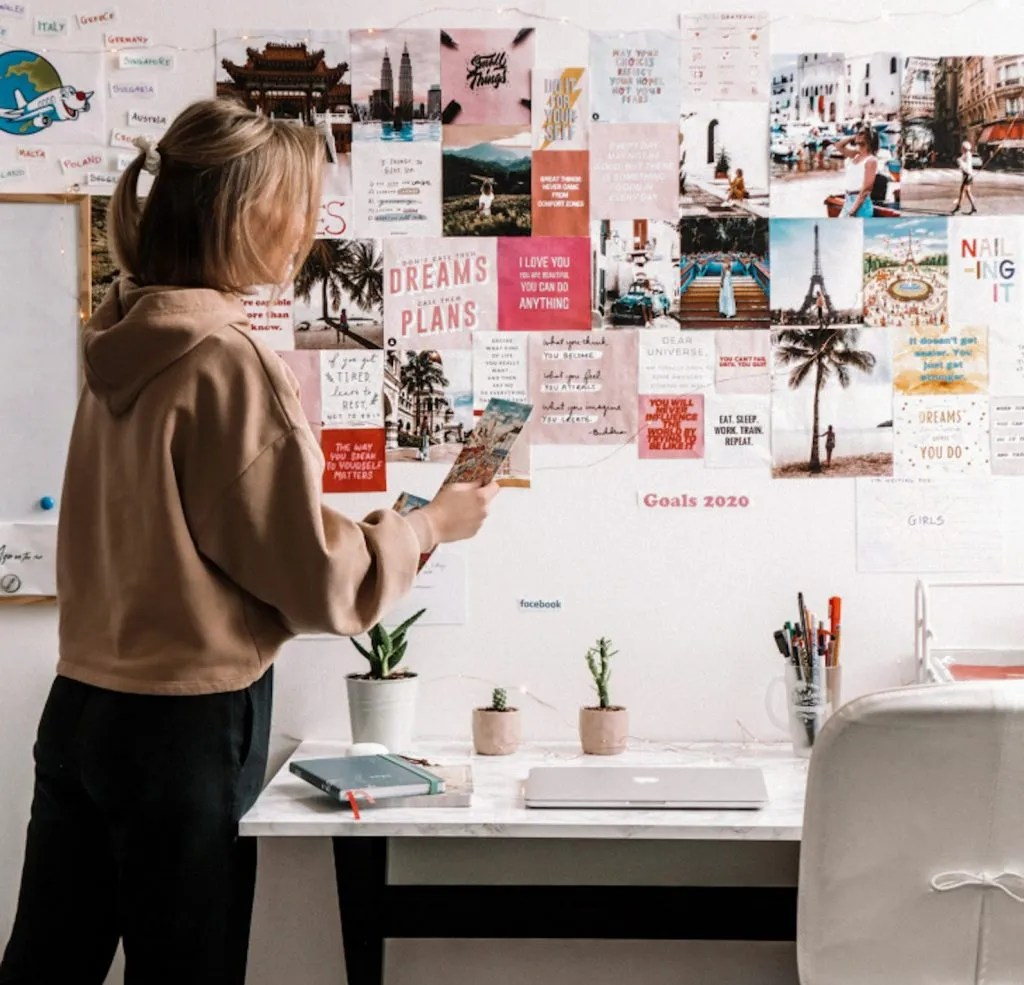 Things to do at home - create a mood wall