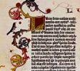 Фрагмент страницы Библии Гутенберга