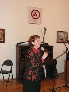 Выступает И.М.Себелева. Фото А.Похлебалова