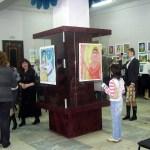 """На открытии выставки детского рисунка """"Индия глазами детей"""" ."""