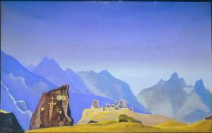 Н.К.Рерих. Меч Гэсер. 1932