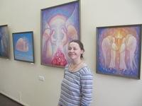 Елена Войнова на выставке в Мэрии Ярославля