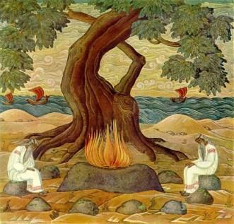 """Картина Николая Рериха """"Вайделоты"""" 1913"""