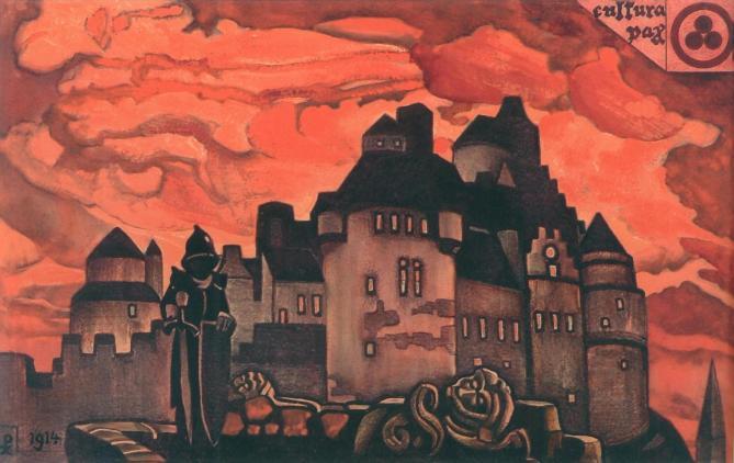 Николай Рерих. Зарево. 1931 г.
