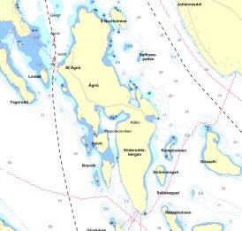 Karta över Ägnö
