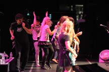 The Dollyrots join The Go-Go's on stage.