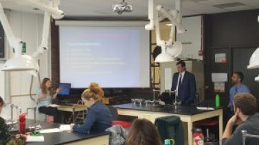 Environmental Protection Division AAGs visit Environmental Toxicology class at Northern Vermont University-Lyndon 1