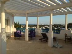 Une des terrasse de l'hôtel