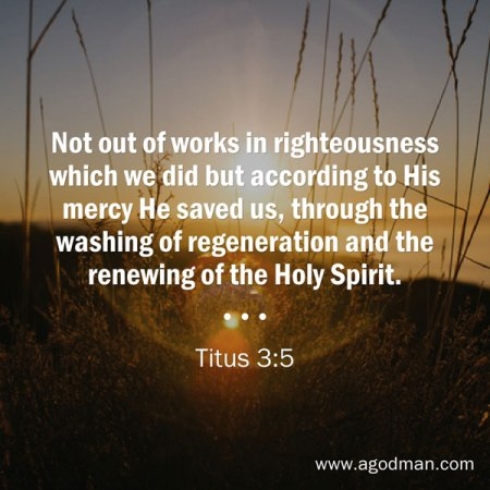 The Washing of Regeneration and the Renewing of the Holy Spirit