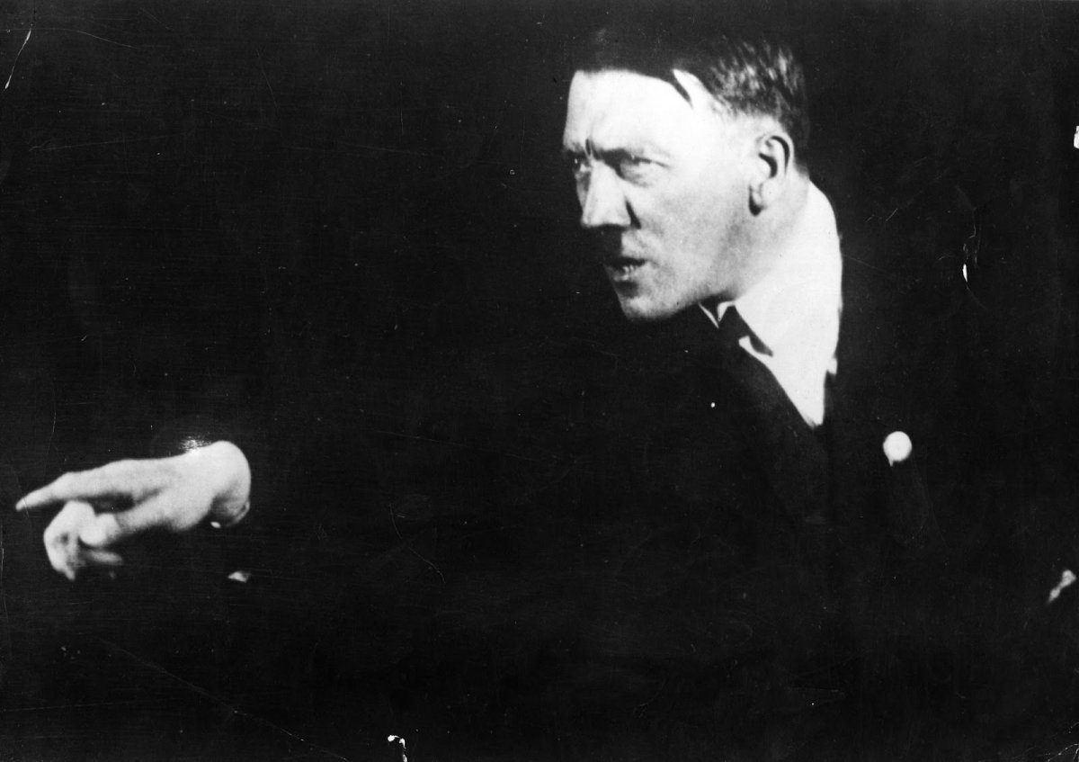 Hitler rehearsing his public speeches in front of the mirror 12