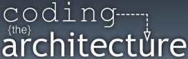Coding the architecture