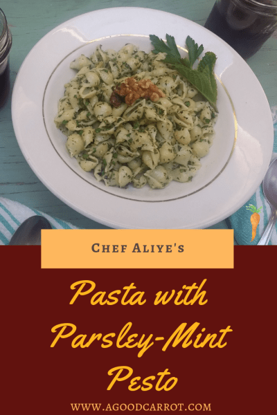 quick pasta recipe, parsley recipes, parsley mint pesto, weekly meal planning, meal plans, meal planning, free meal plans, free meal plans for beginners