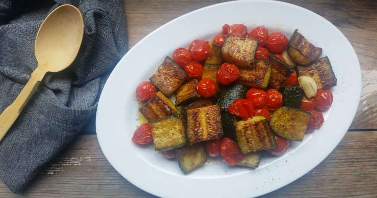 Pan-Roasted Zucchini and Cherry Tomatoes Recipe