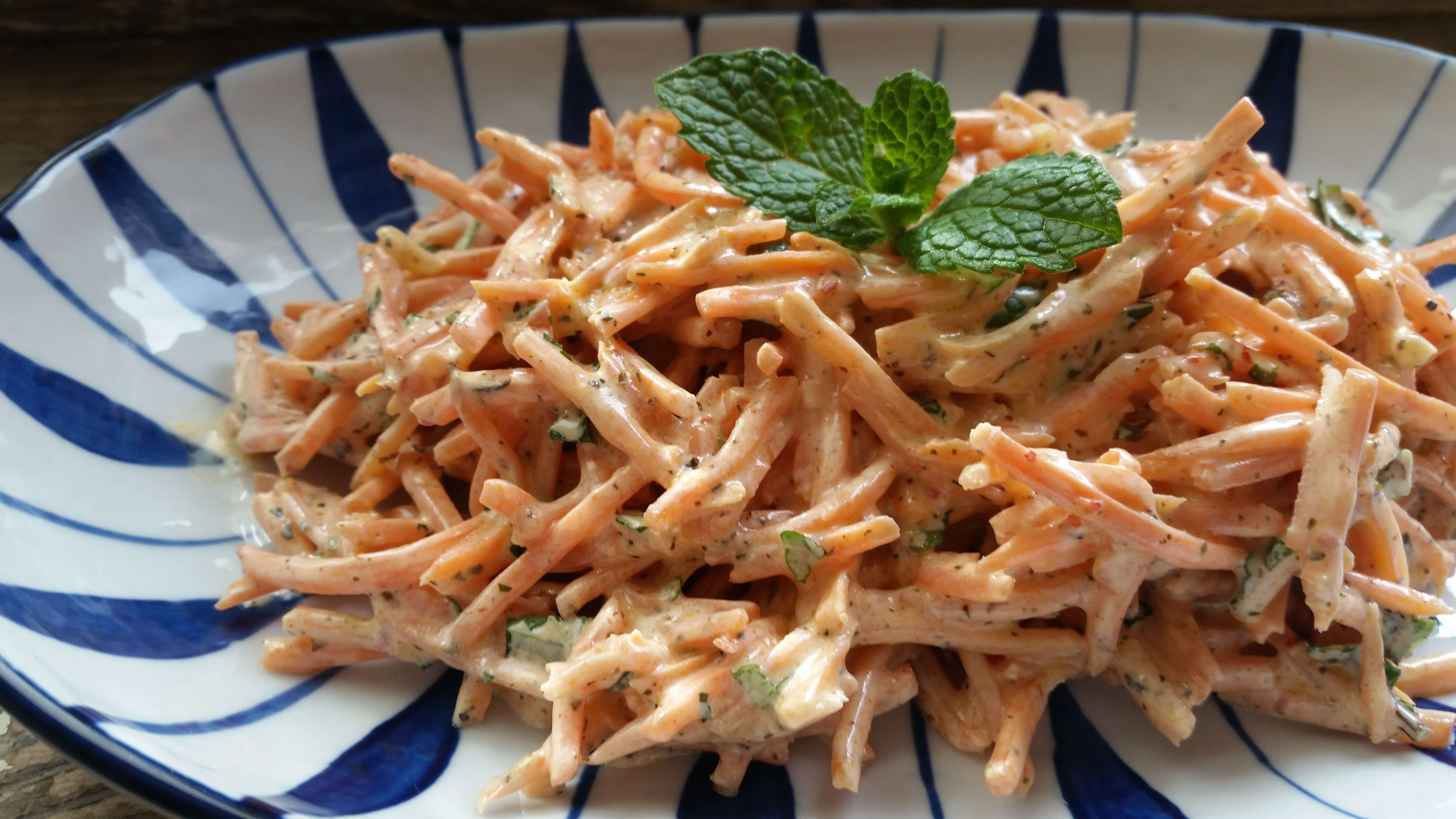 Turkish-Style Carrot Salad Recipe with Minty Yogurt Dressing