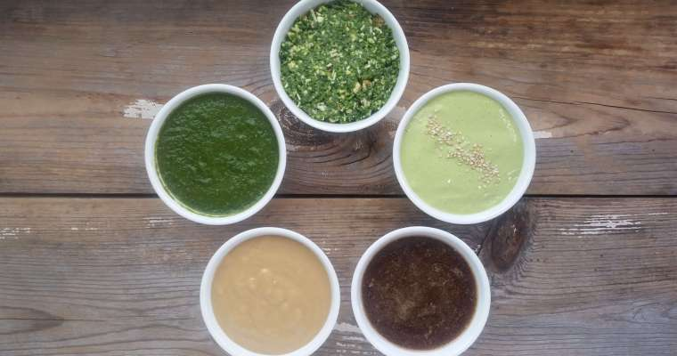 5 Simple Sauce and Dressing Recipes
