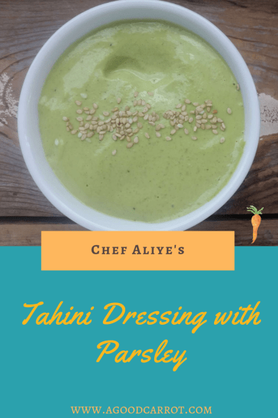 Tahini Dressing Recipe with Parsley, tahini recipe, tahini sauce