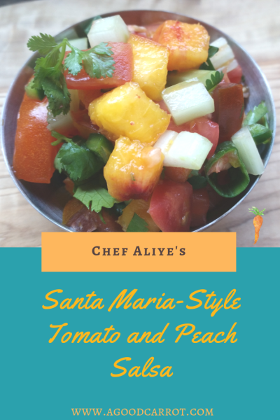 peach salsa recipe, peach recipes, salsa recipes, santa maria salsa, santa maria tri tip