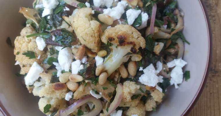 Roasted Cauliflower Salad Recipe with Dates and Mint
