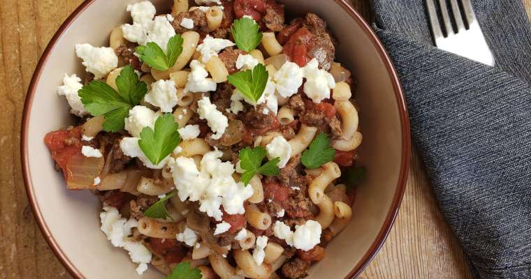 Hearty Mediterranean Style Pasta Recipe