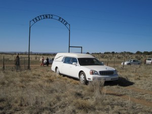 Hearse at Hyer Cemetery