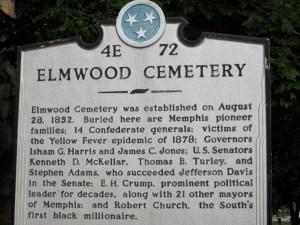 Elmwood Cemetery historical marker