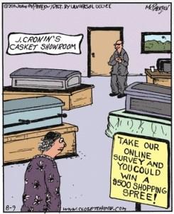 Casket sales cartoon