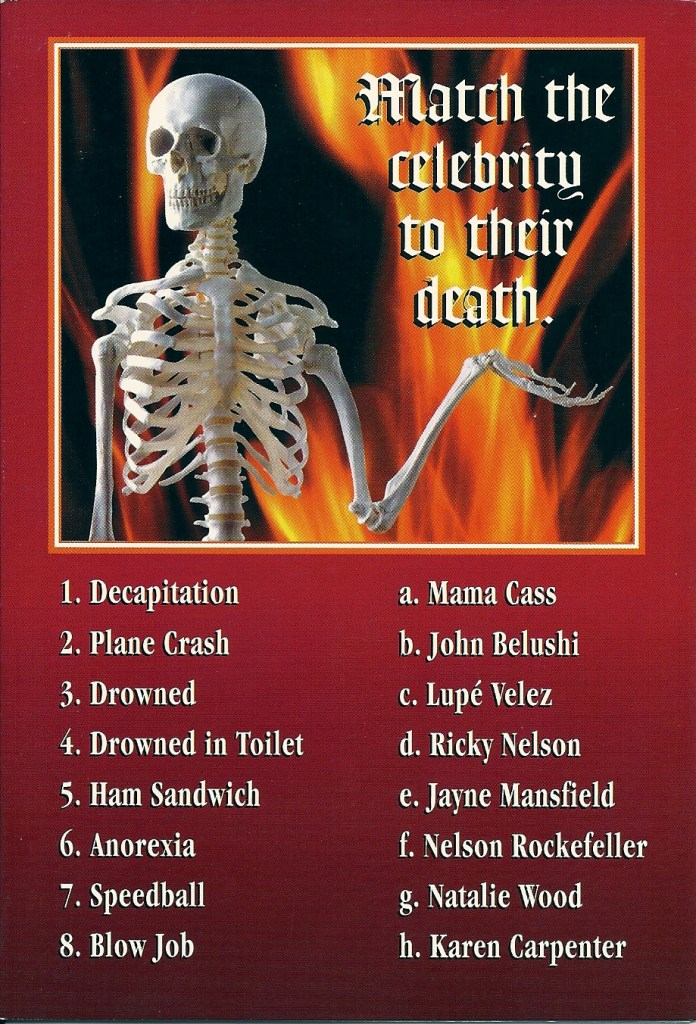 Celebrity Death Quiz
