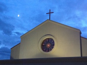 Church of The Incarnation and moon