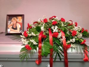 Photo, Roses and Casket