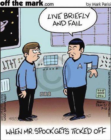 Spock Ticked Off - Speed Bump Cartoon