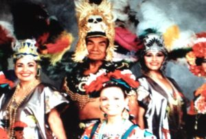 Miguel Caro and dancers