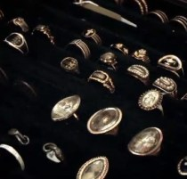 Memorial rings from the Victorian era