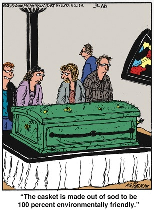 Green Casket Cartooon