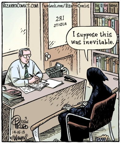 Death and Taxes Bizarro
