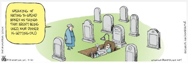 Non Sequitur grave cartoon