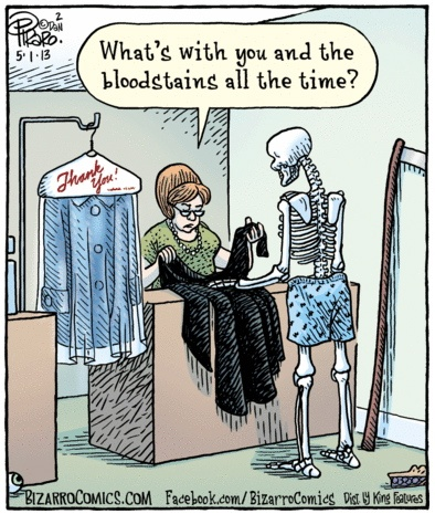 Grim Reaper at the cleaners