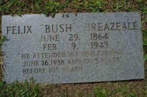 Felix Bush Headstone
