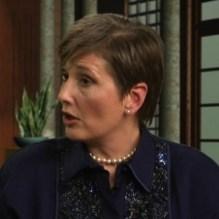 Gail Rubin, on-set during the 'A Good Goodbye' TV program
