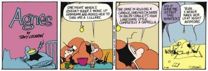 Agnes can't sleep cartoon