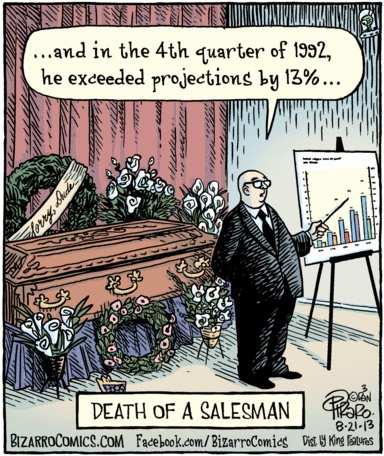 Bizarro Death of a Salesman